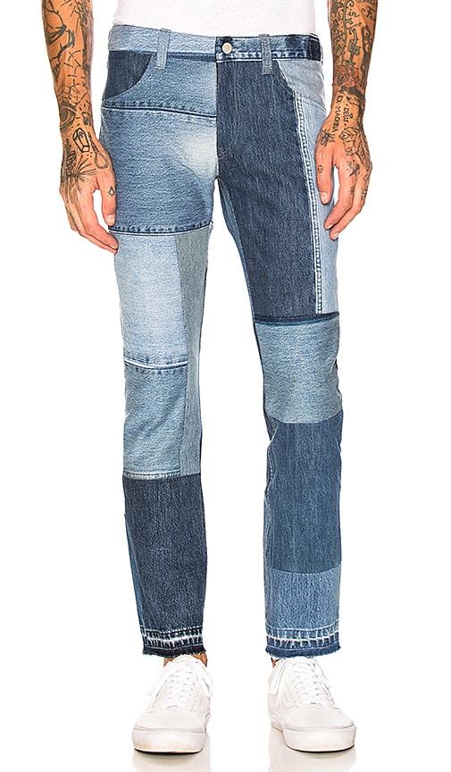 Children of the discordance Vintage Patch Denim Pants in Blue