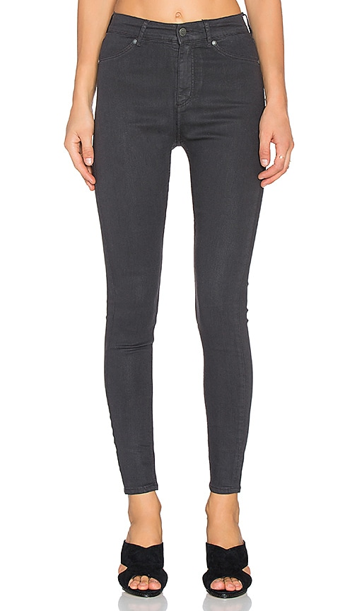 4b8c2cc30eed Cheap Monday High Spray Jean in Waxed Charcoal | REVOLVE