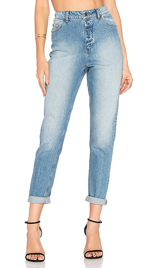 Cheap Monday Donna High Waist Jean in Dash Blue