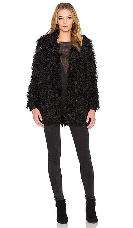 Cheap Monday Curl Faux Fur Jacket in Punk Black