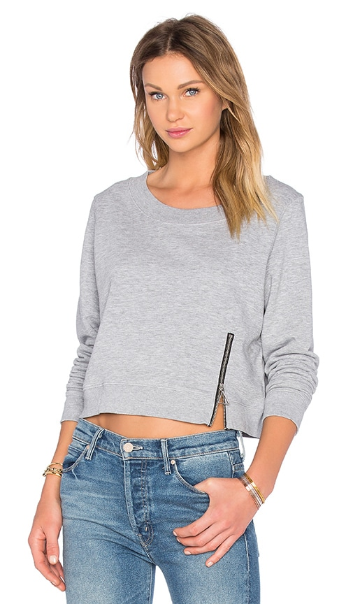 Cheap Monday Exact Zip Sweatshirt in Gray