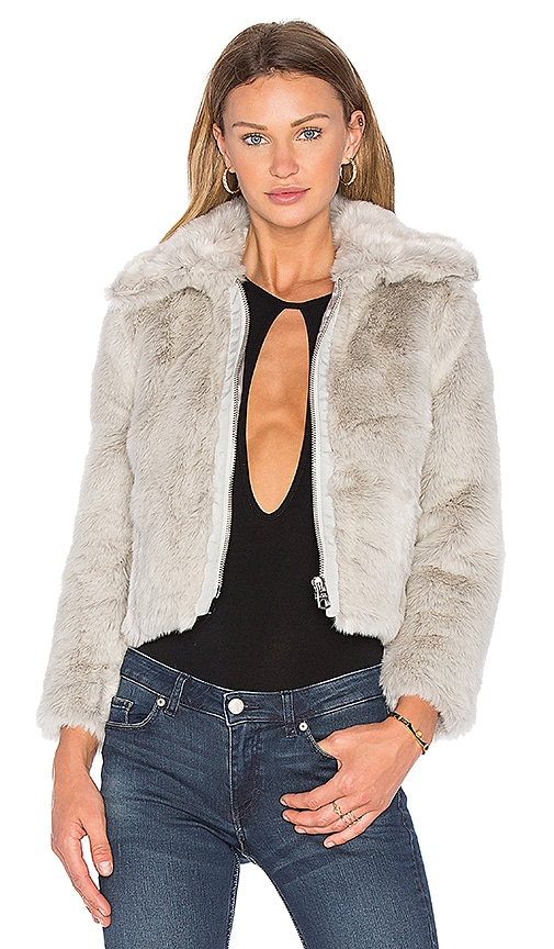Cheap Monday Pace Faux Fur Jacket in Gray