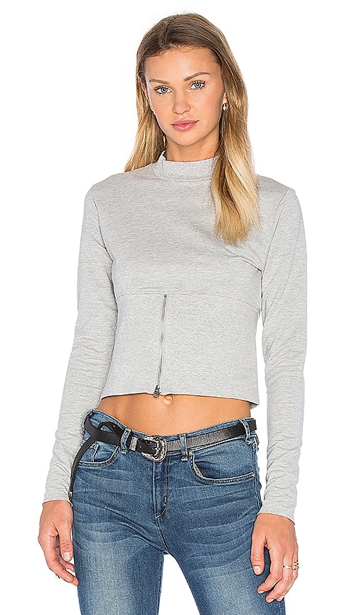 Cheap Monday Vote Sweatshirt in Gray