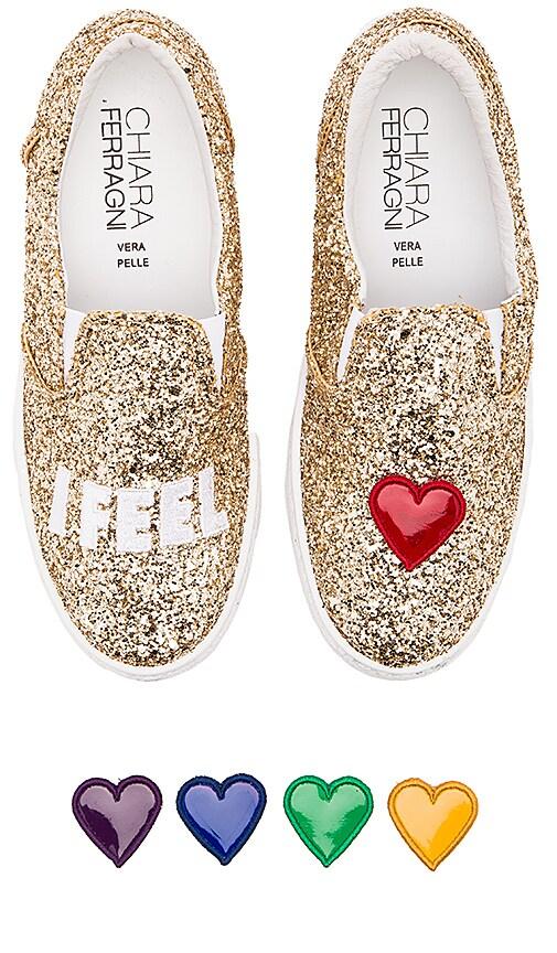 Chiara Ferragni I Feel Slip-On Sneaker in Gold