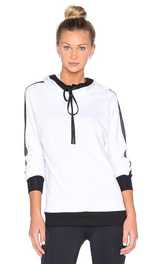 CHICHI Audrey Hooded Sweatshirt in White & Black