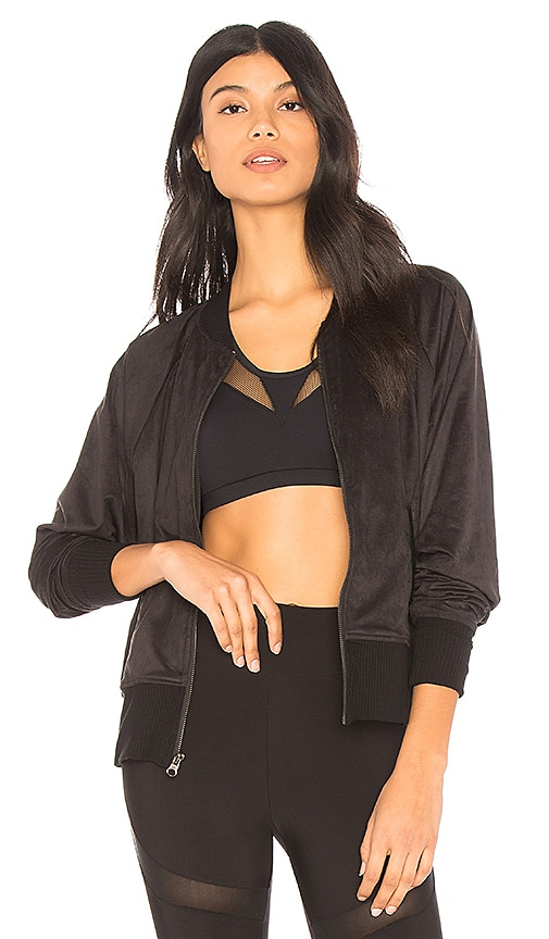 CHICHI Natalie Suede Bomber in Black