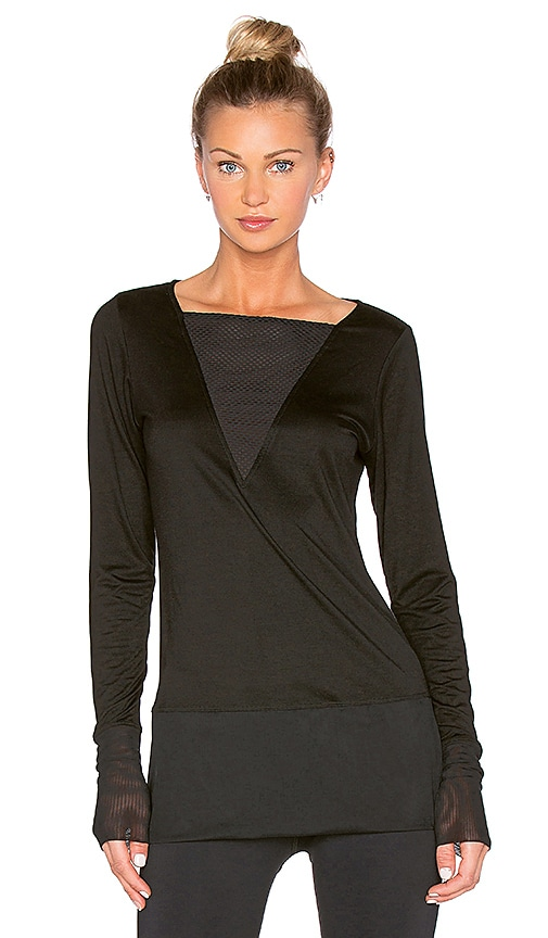 CHICHI Victoria Long Sleeve Top in Black