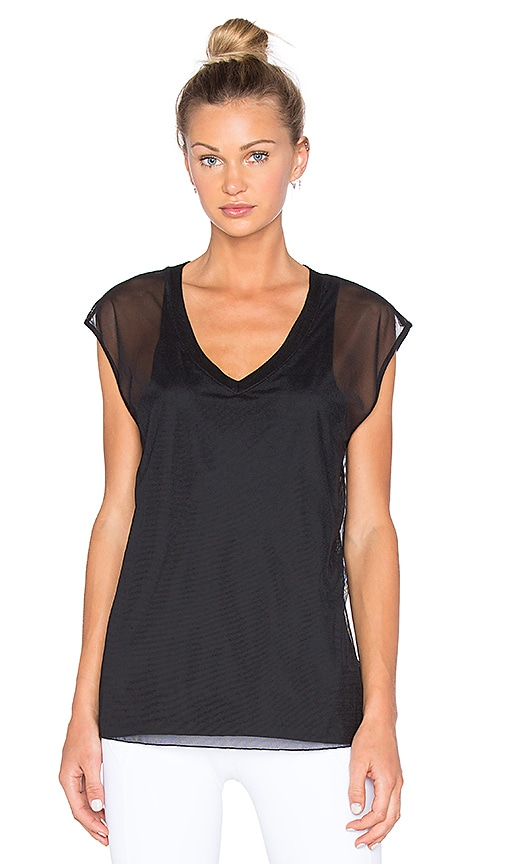 CHICHI Lauren Mesh Tank in Black