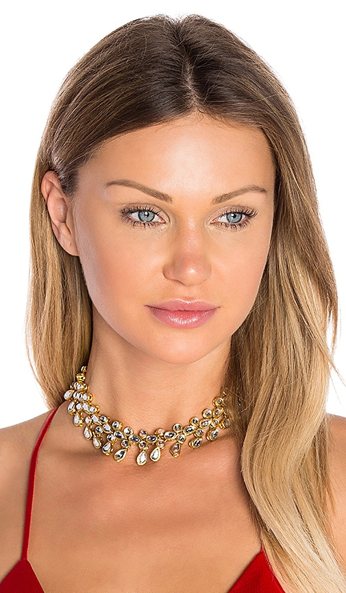 Child of Wild Drops of Love Choker in Metallic Gold