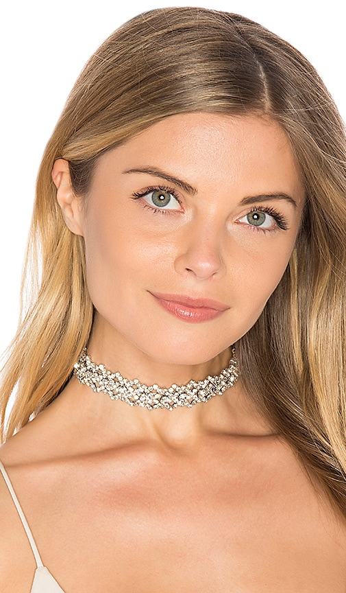 Child of Wild Victoria Rhinestone Choker in Metallic Silver