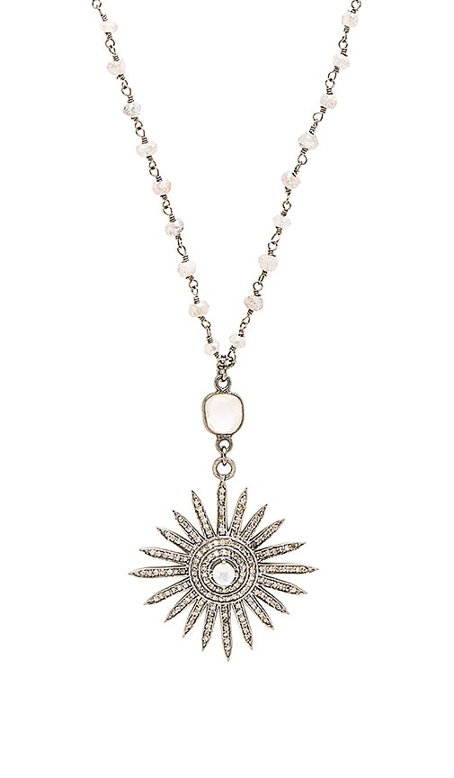Child of Wild Sun DAZE Rosary Necklace in Gray