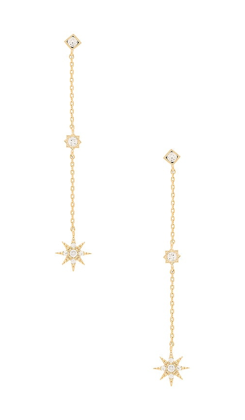 Child of Wild Starburst Dangle Earrings in Metallic Gold