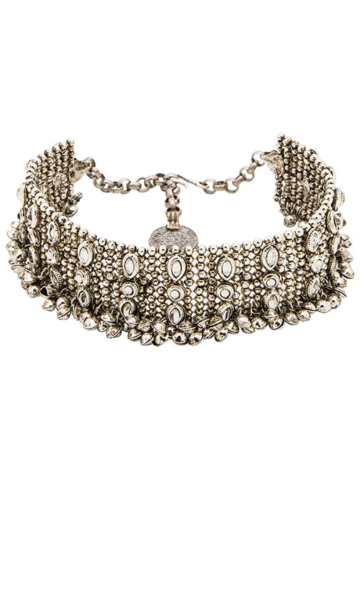 Child of Wild Kholkal Choker in Metallic Silver