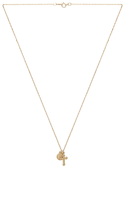 Child of Wild Hail Mary Necklace in Metallic Gold