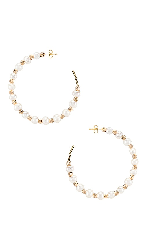 Iah Pearl Hoop Earrings