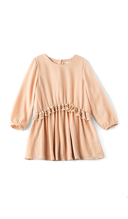 Chloe Kids Couture Crepe Stud Dress in Blush