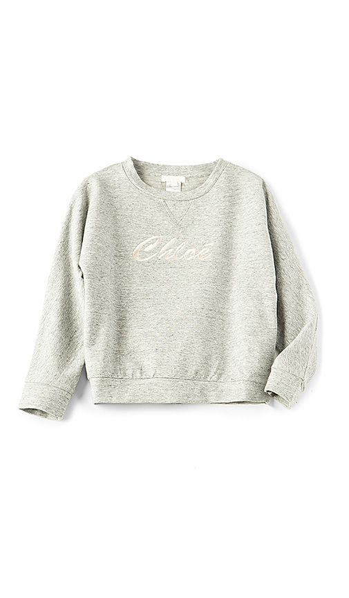 Chloe Kids Chloe Logo Sweatshirt in Light Gray