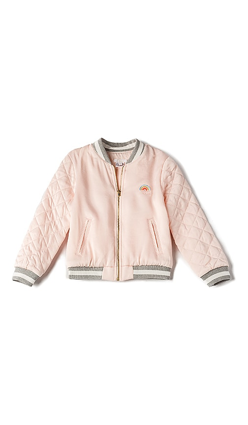 Chloe Kids Soft Teddy Bomber in Pink