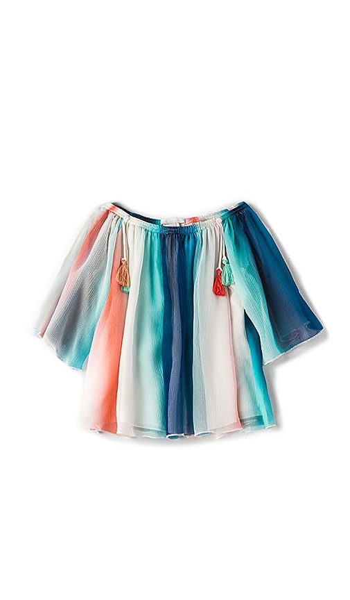 Chloe Kids Mini Rainbow Top in Blue