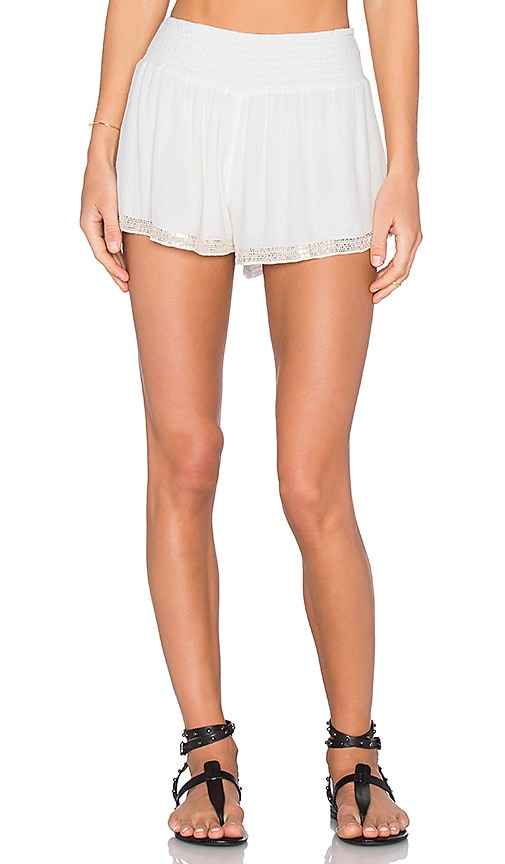 Chloe Oliver Cabana Boy Short in White
