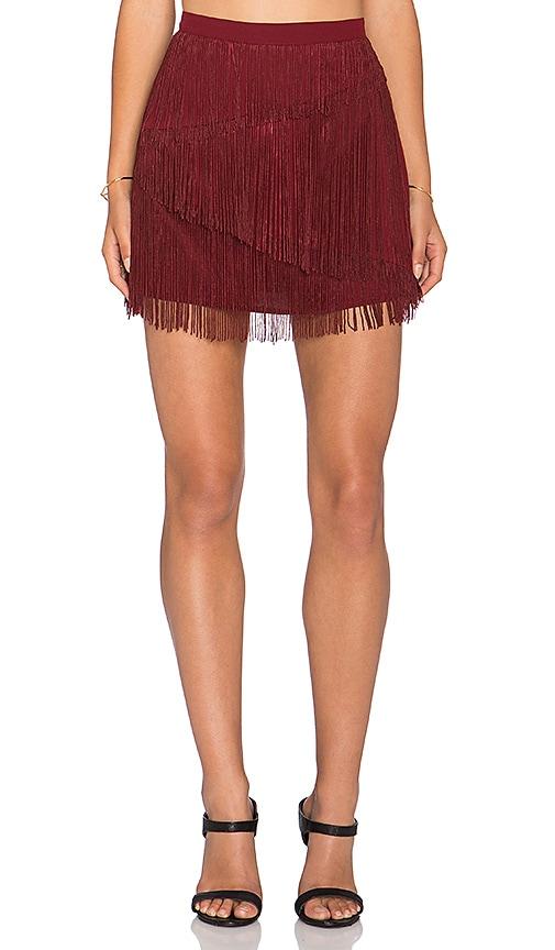 Chloe Oliver Give Me a Beat Back Mini Skirt in Brick