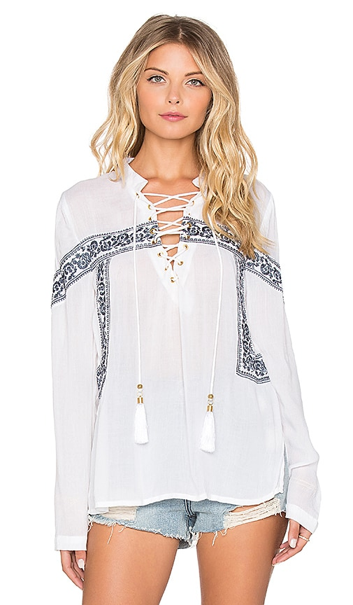 Chloe Oliver The Cast Away Top in White