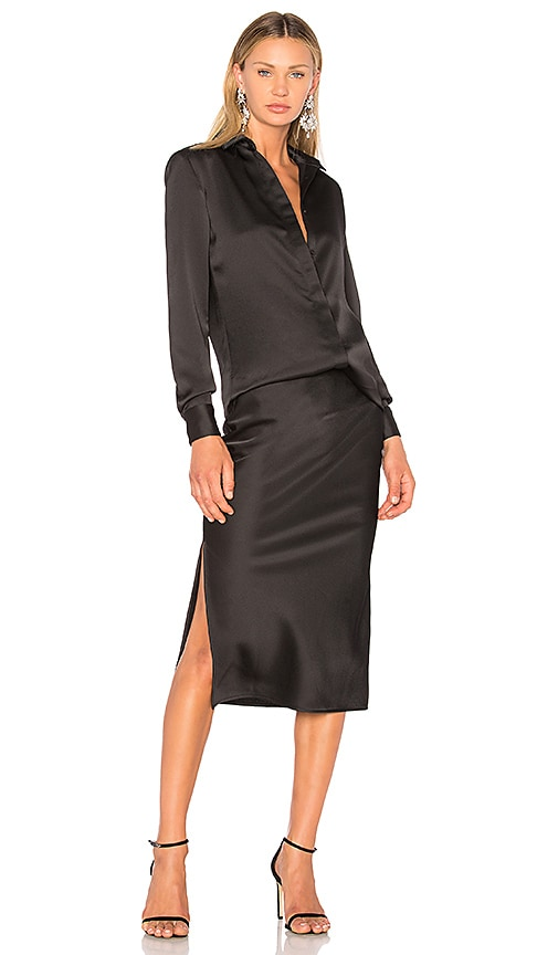 Christopher Esber Bias Shirt & Skirt Dress in Black