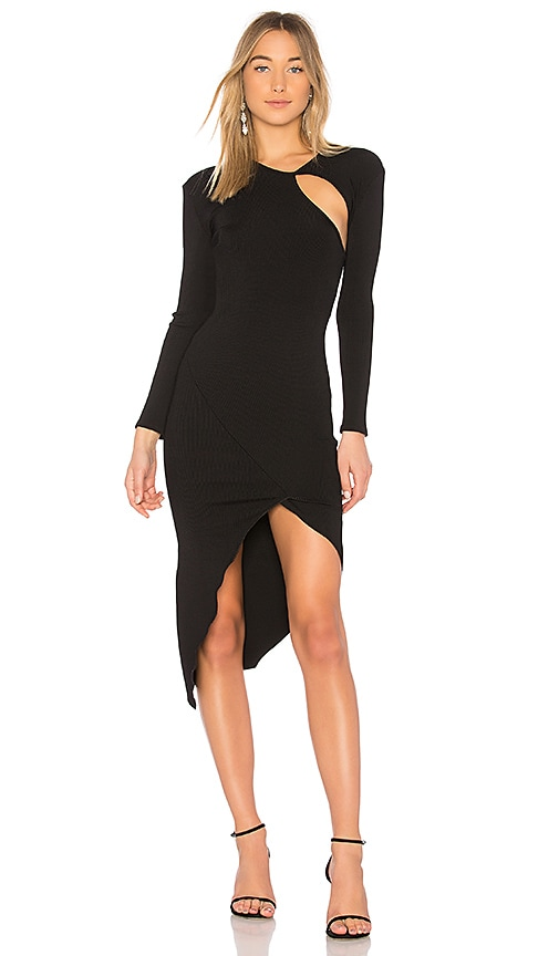 Christopher Esber Einspritz Underslit Dress in Black