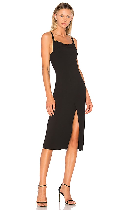 Christopher Esber Ribbed Inner Contour Dress in Black