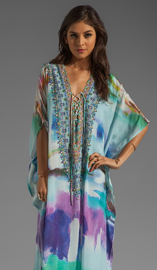 Long Lace Up Kaftan