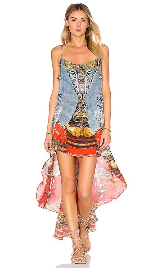 Camilla Mini Dress with Long Overlay in Wandress