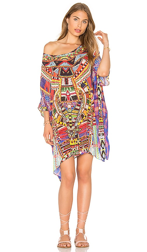 Short Round Neck Kaftan