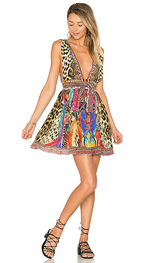 f022a0bc9d Camilla Short Dress with Tie in Kingdom Call