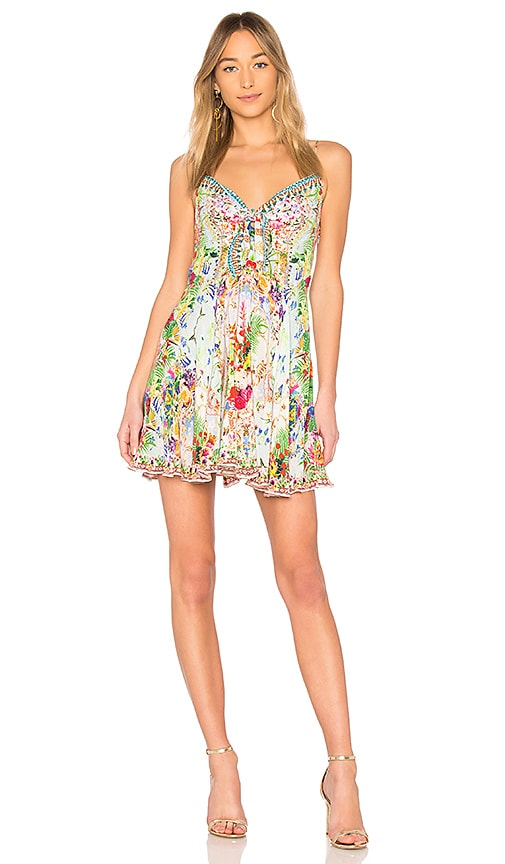 Miranda'S Diary Short Tie Front Dress