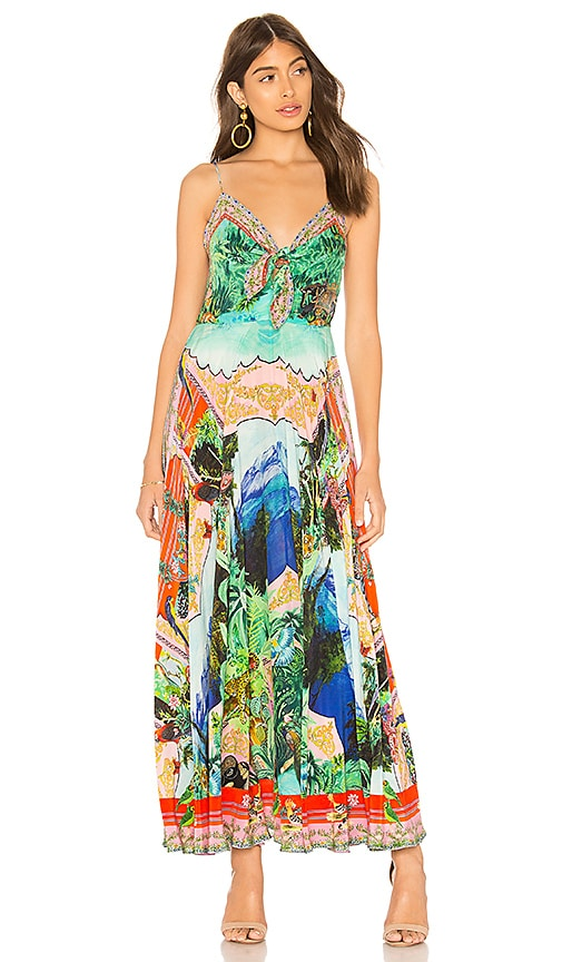 Camilla Long Way Home Maxi Dress in Green