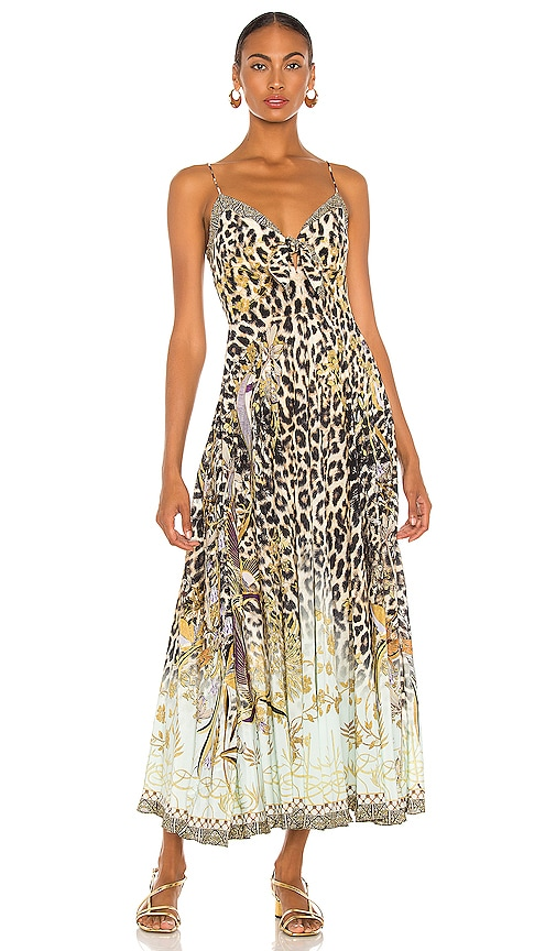 Camilla TIE FRONT MAXI DRESS