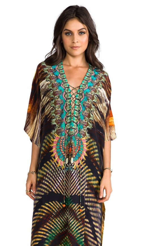 Animism Long Lace Up Kaftan