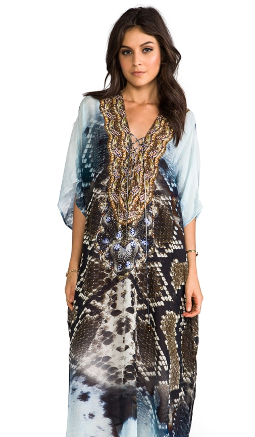 At Talons Length Long Lace Up Kaftan