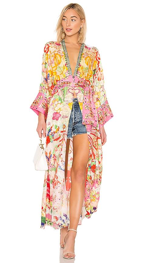 Elastic Kimono Waist Camilla Robe In KissesRevolve W2YDEH9Ie