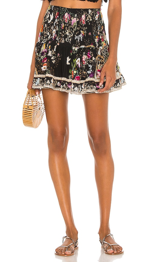 Camilla SHORT SHIRRED SKIRT