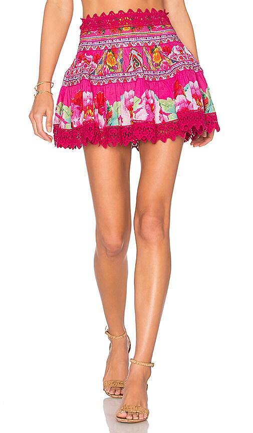 Camilla Short Frill Hem Skirt in Pink