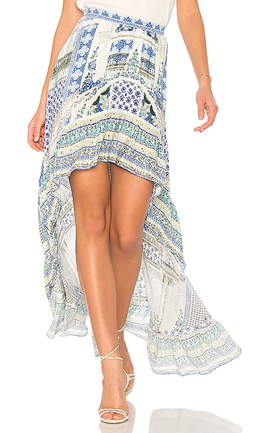 Camilla High Low Skirt in Blue