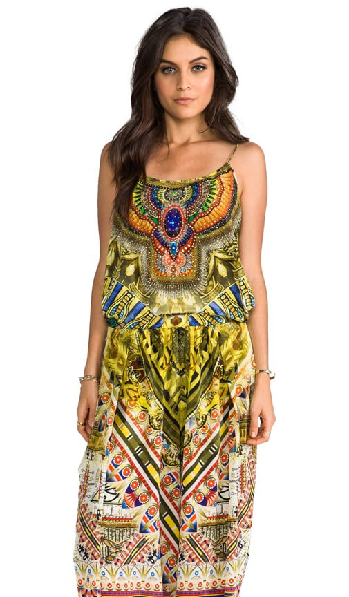Sands of Egypt Shoestring Strap Jumpsuit