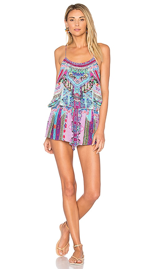 Camilla Shoestring Romper in Pink