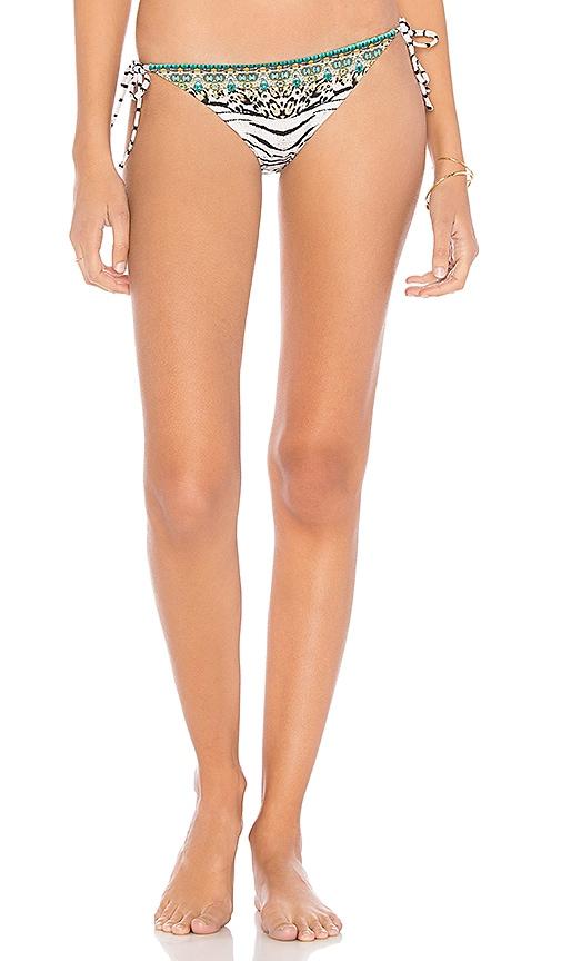 Camilla Tie Side Bikini Bottom in Brown