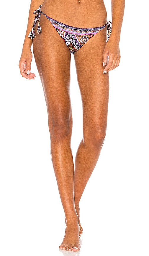 Side Tie Plait Strap Bikini Bottom