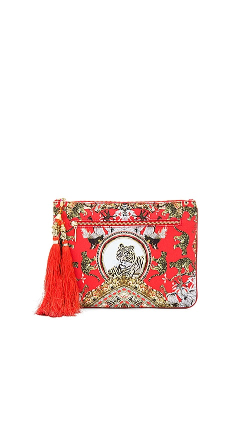 Camilla Small Canvas Clutch in Red