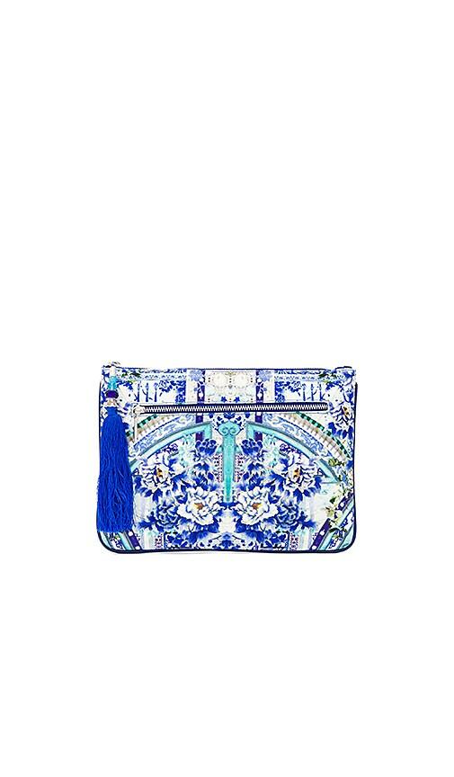 Camilla Small Canvas Clutch in Blue