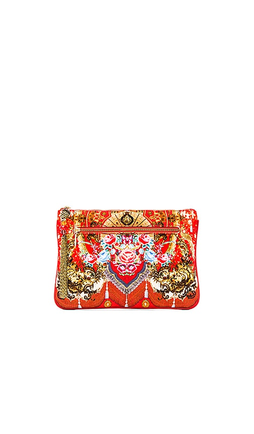 Camilla Small Canvas Clutch in Cameos Dance