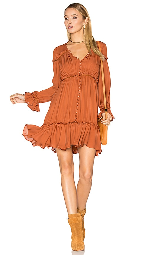 Cinq a Sept Ashburn Dress in Burnt Orange